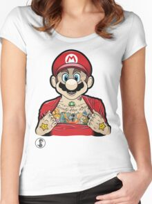 Mario's Got Ink Women's Fitted Scoop T-Shirt