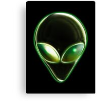 Metal Alien Head 04 Canvas Print