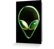 Metal Alien Head 04 Greeting Card