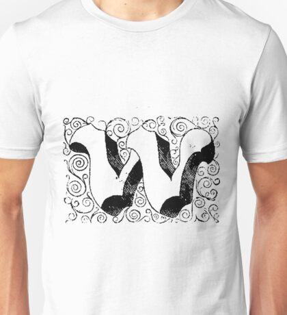 Block Alphabet Letter W Unisex T-Shirt