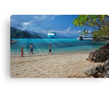 A Day at the Beach (Labadee, Haiti) Canvas Print