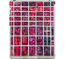 Buttons arranged in a typesetter drawer iPad Case/Skin