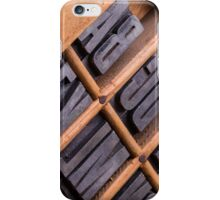 Alphabet in a typesetter drawer iPhone Case/Skin