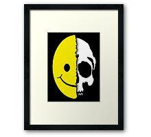 Shreaded Smiley Framed Print