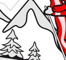 Winter Urlaub ski spass  Sticker