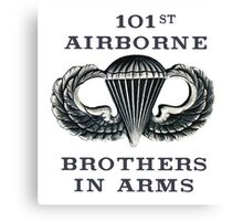 Jump Wings - 101st Airborne - Brothers in Arms Canvas Print