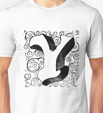Block Alphabet Letter Y Unisex T-Shirt