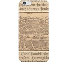 Antique Map of Seville Spain iPhone Case/Skin