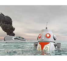 Robot Crash at Sea Photographic Print