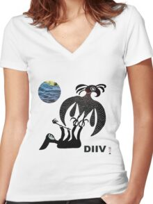 Diiv - Oshin Women's Fitted V-Neck T-Shirt