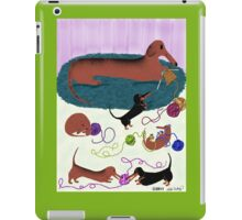 Knitting Dachshund iPad Case/Skin