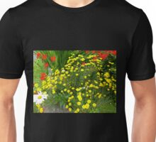 White Daisy And Friends On An Irish Country Road Unisex T-Shirt