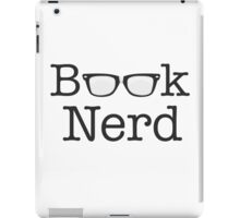 Book Nerd Funny Spectacles Text iPad Case/Skin
