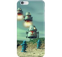 Robot Invasion From Above V2 iPhone Case/Skin