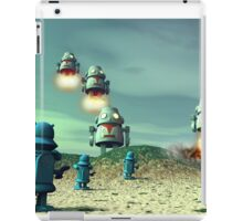 Robot Invasion From Above V2 iPad Case/Skin