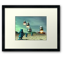Robot Invasion From Above V2 Framed Print