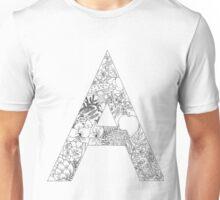Botanical Alphabet Letter A Unisex T-Shirt