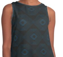 Hip to be Square (black) Contrast Tank