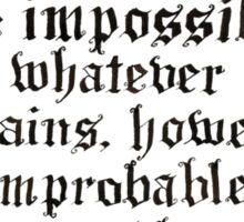 Classic Sherlock Calligraphy Sticker