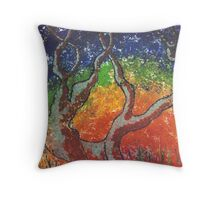 Chakra Tree Throw Pillow