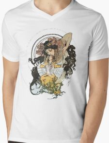 Alphonse mucha Vintage Art Mens V-Neck T-Shirt