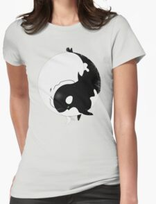 When Willy meets Moby Womens Fitted T-Shirt