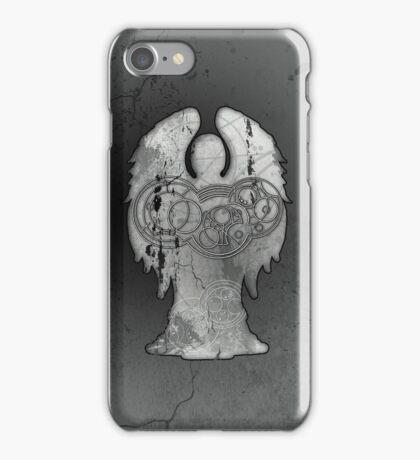 Weeping Angel Design with Circular Gallifreyan iPhone Case/Skin