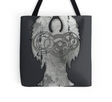 Weeping Angel Design with Circular Gallifreyan Tote Bag