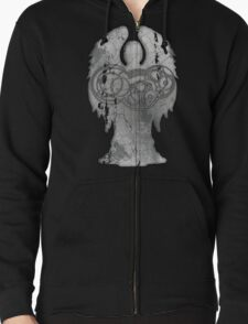Weeping Angel Design with Circular Gallifreyan T-Shirt