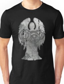Weeping Angel Design with Circular Gallifreyan Unisex T-Shirt