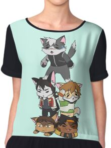 Forming Voltron: Are we doing this correctly? Chiffon Top