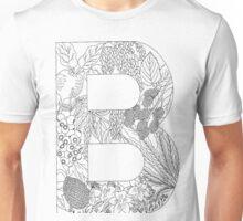 Botanical Alphabet Letter B Unisex T-Shirt