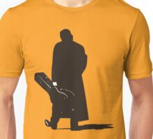 man walking with his guitar silhouette Unisex T-Shirt