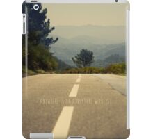 anywhere is an adventure with you iPad Case/Skin