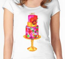 Love Cake Women's Fitted Scoop T-Shirt