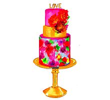 Love Cake Photographic Print