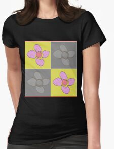 Bold Flowers Womens Fitted T-Shirt