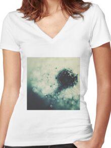 Dandelion - moody blues Women's Fitted V-Neck T-Shirt