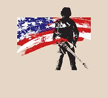 the rock star and us flag Unisex T-Shirt