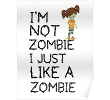 funny Zombie kid Poster