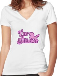 I believe in unicorns Women's Fitted V-Neck T-Shirt