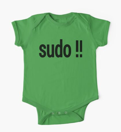 sudo !! - Run the last command as superuser One Piece - Short Sleeve