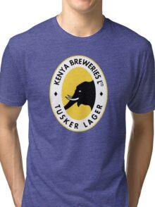 TUSKER BEER LAGER KENYA Tri-blend T-Shirt