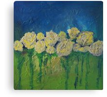 White Roses by Adrianna Stepiano Canvas Print