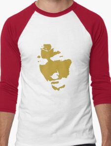 black and gold music legend silhouette Men's Baseball ¾ T-Shirt