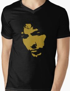 black and gold music legend silhouette Mens V-Neck T-Shirt
