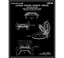 Toilet Seat and Cover Patent - Black Photographic Print