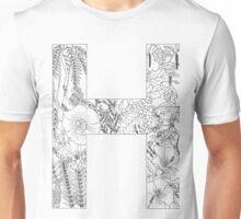 Botanical Alphabet Letter H Unisex T-Shirt