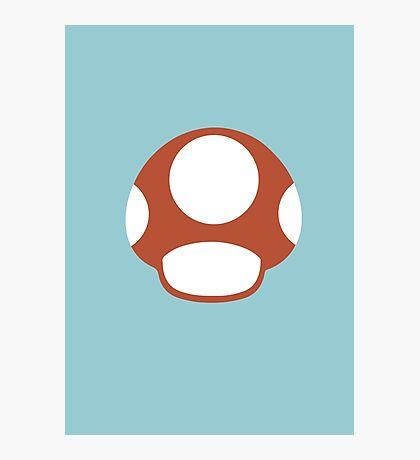 Mario Bros. - Flat Super Mushroom Photographic Print