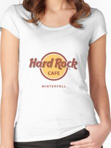 Hard Rock Cafe Winterfell Game of Thrones Women's Fitted Scoop T-Shirt